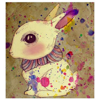 Carnival Rabbit Mini Print by shaylafish on Etsy