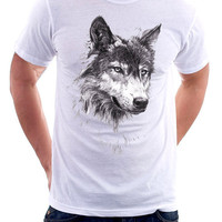 Wolf Shirt Men Women Tshirt  all sizes shirt by beadartexpress