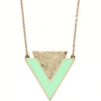 With Love From CA Geo Triangle Pendant Necklace at PacSun.com