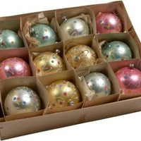 One Kings Lane - Jane Stubbs - Vintage Hand-Painted Balls, Set of 12