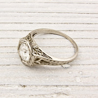 .79 Carat Old European Cut Diamond Antique Engagement Ring | Shop | Erstwhile Jewelry Co.