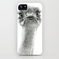 Cute Ostrich SK053 iPhone Case by S-Schukina | Society6