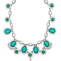 Kate Emerald Cascading Necklace | Rent The Runway
