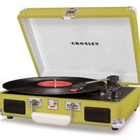 Crosley Cruiser Turntable CR8005A-OR - It&#x27;s Portable! - Green Vinyl - Whimsical &amp; Unique Gift Ideas for the Coolest Gift Givers