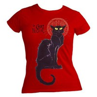 Le Chat Noir Ladies Red Tshirt S M L XL by StrangeJam on Etsy