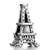 Pugster Paris Eiffel Tower Charm Beads Fit Pandora Chamilia Biagi Charms Bracelet: Jewelry: Amazon.com