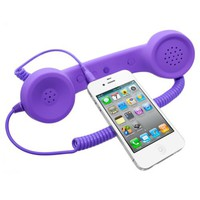 Universal MiniSuit Retro Headset/Handset Ear phone for iPhone, iPad, Blackberry, and Androids - Sof