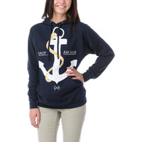 Glamour Kills Drop & Anchor Navy Pullover Hoodie