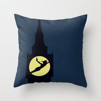 Peter Pan Throw Pillow by Citron Vert | Society6
