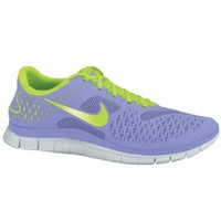 Amazon.com: Nike Free Run 4.0 - Womens - Medium Violet/Electric Green/Pure Platinum: Shoes