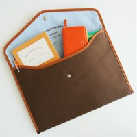 Canvas Document Pouch