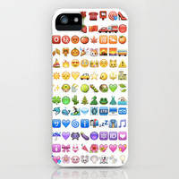 Emoji icons by colors iPhone Case by Gal Raz | Society6