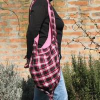 Knot Bag - Pink Checkered Fabric on Luulla