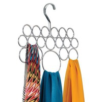 InterDesign Axis 18 Loop Scarf Holder, Chrome