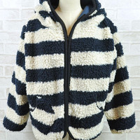 Wholesale Stripe Thicken Blue Big Hooded Sweaters : Wholesaleclothing4u.com