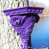Wall Sconce Shelf Royal Purple Ornate Fleur De by LadyandMeemzFab