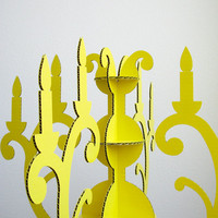 CUSTOM COLOR Chandelier Cardboard Decor by seequin on Etsy
