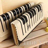 Multi-functional Piano Key Muscial Note Wallet: tidestore.com
