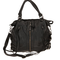 Urban Outfitters - Deena &amp; Ozzy Zip-Front Moto Satchel