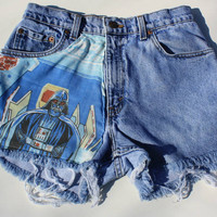 Vintage High-Waisted Levi Shorts - Star Wars