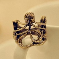 Vintage Octopus Ring from Black Velvet Boutique