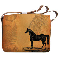 Vegan Leather Horse Large Laptop Bag  - 