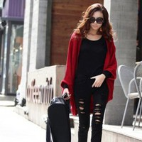Simple and Elegant Bat-Wing Sleeves Blended Cashmere Shawl For Women China Wholesale - Sammydress.com