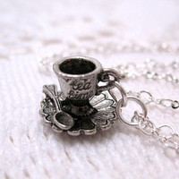Teacup And Saucer Tea Time Necklace