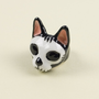 Xingu Cat Ring - Handcrafted Ring with White and Black Enamel
