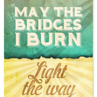 $18.00 Light the Way Art Print // 8 x 10 by wickedpaper on Etsy