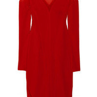 Donna Karan | Mesh and stretch crepe-jersey dress | NET-A-PORTER.COM