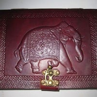 Elephant Emboss Pure genuine Leather Bound by GenuineGoods786