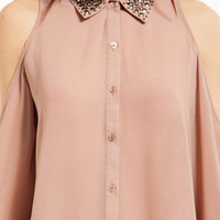 Medallion Button Up Shirt $62