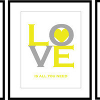 Set of 3 Prints  11x14 available in any colors  You by karimachal