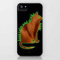 KEEP CALM AND STROKE A CAT iPhone Case by catspaws | Society6