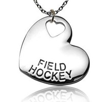 Field Hockey Sport Heart Necklace