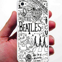 The Beatles iPhone Case - Rubber Silicone iPhone 4 Case or Plastic iPhone 5