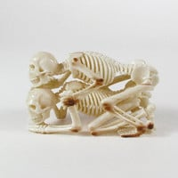 Erotic Skeleton 18, Hand-Carved from Fossil Walrus Ivory