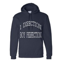 Amazon.com: One Direction Hoodie Sweatshirt Navy White Lettering Girls Tween Teen Jr.'s Size Women's Small (Adult) Similar to Girl's Extra Large: Clothing