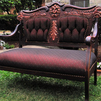5 Piece Settee Living Room Furniture Set Carved by PARISAPTCOUTURE