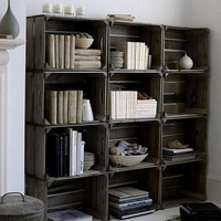 Wood Crate Bookcase Handmade