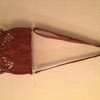 Lovely studed fringe shoulder bag