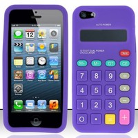 Amazon.com: For iPhone 5 (AT&T/Verizon/Sprint/Cricket) Calculator Silicon Skin Case - Purple SCCL: Cell Phones & Accessories