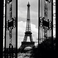 EIFFEL TOWER - THROUGH THE GATE POSTER - 24x36 SHRINK WRAPPED - PARIS 867583