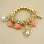 Amazon.com: Coral Sea Life Stretch Bracelet: Clothing
