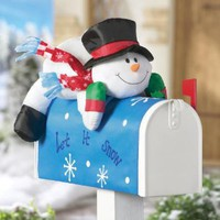 Stuffable Snowman Holiday Mailbox Cover Decoration By Collections Etc