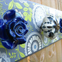 Jewelry/Coat Rack  Indigo Garden Wall Blossom by HelloBlossom