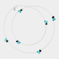 Turquoise Black Onyx and Blue Topaz Cluster Necklace | MoMA Store