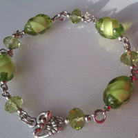 Exquisite Green Crystal Bracelet