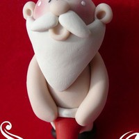 Naughty Santa Christmas Ornament Personalized by Sabrinaps on Etsy